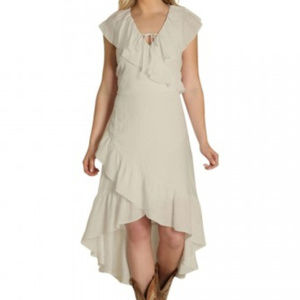 WRANGLER XXL NWT Ivory Ruffle Hi Lo Western Dress
